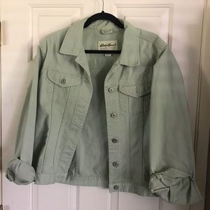 Vintage Eddie Bauer Mint Green Denim Jean Jacket